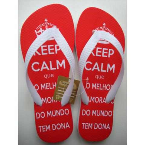 Chinelo Personalizado Keep Calm Namorado