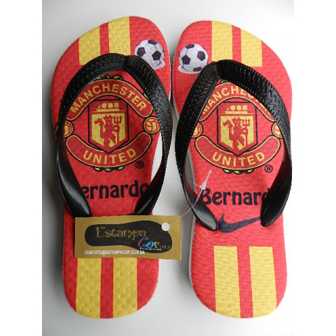 Chinelo Personalizado Manchester United