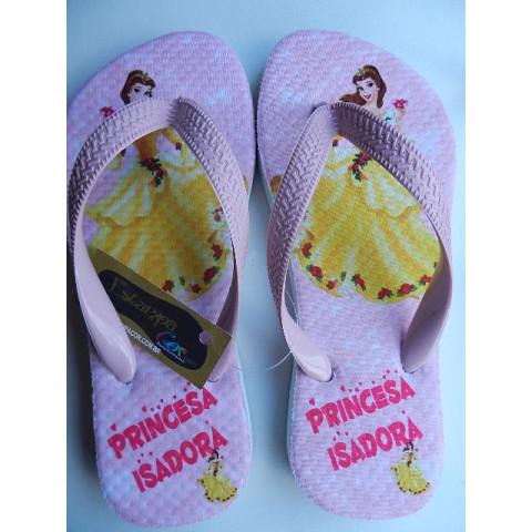 Chinelo Personalizado Princesa Bela