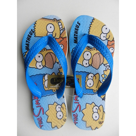 Chinelo Personalizado The Simpsons