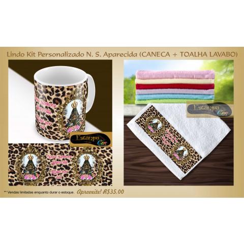 Kit Personalizado Caneca e Toalha Lavabo N. S. Aparecida