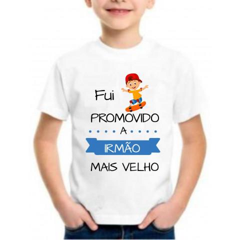Camiseta Personalizada Fui Promovido A Irmão Mais Velho
