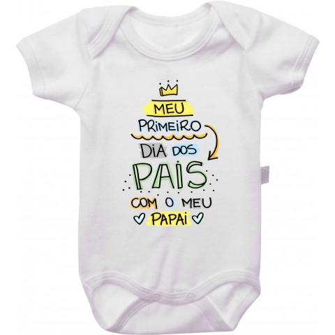 Body Personalizado Primeiro Dia Dos Pais