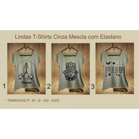 T-Shirts Cinza Mescla Diversas I