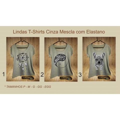 T-Shirts Cinza Mescla Diversas II