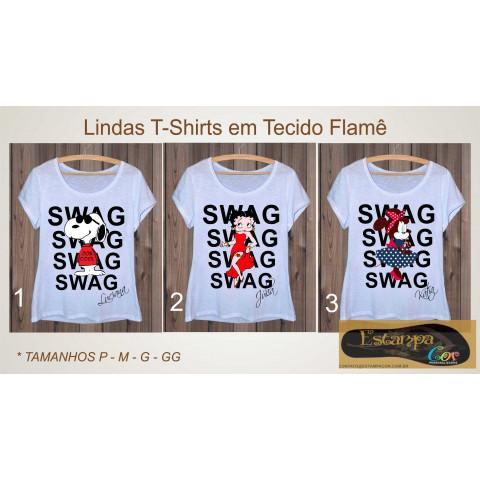 T-Shirts Personalizadas Snoopy BettyBoop Minnie
