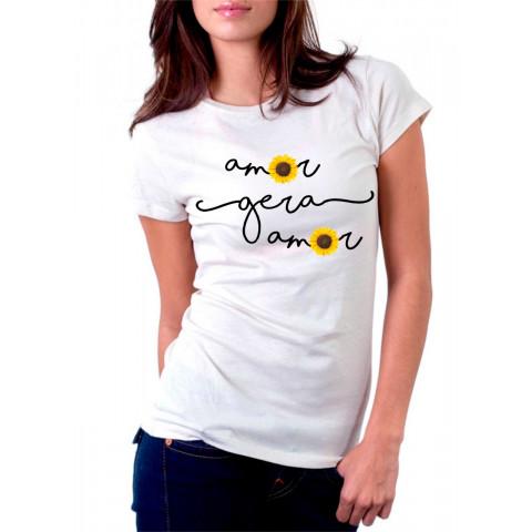 Camiseta Personalizada Amor Gera Amor