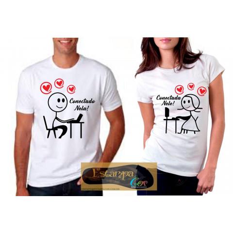 Camiseta Personalizada Conectado Nela Conectada Nele