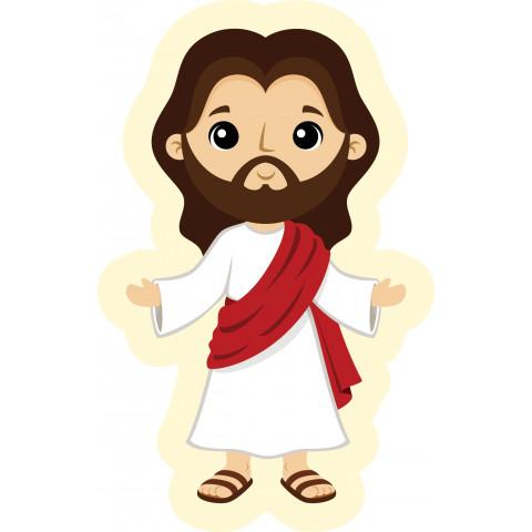 Recorte em Tecido Naninha Almofada Contornada Jesus Cristo