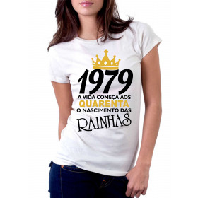 Camiseta Feminina O Nascimento das Rainhas - Escolha o Ano