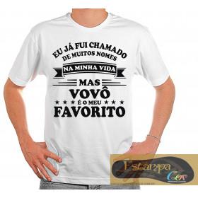 Camiseta Personalizada Ser Chamado de Vovô é o Meu Favorito