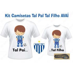 Camiseta Personalizada Tal Pai Tal Filho Avaí (monte o seu Kit)