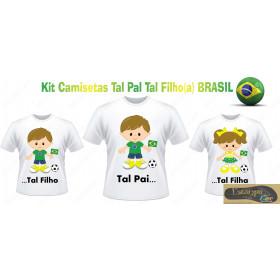 Camiseta Personalizada Tal Pai Tal Filho Brasil (monte o seu Kit)
