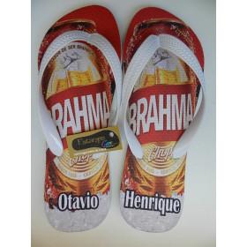 Chinelo Personalizado Cerveja Brahma