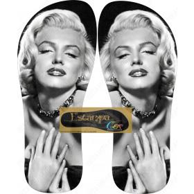 Chinelo Personalizado Marilyn Monroe