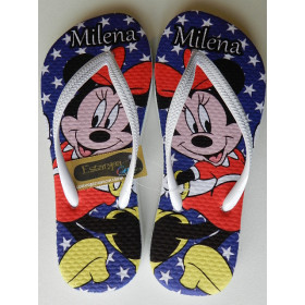 Chinelo Personalizado Minnie