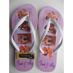 Chinelo Personalizado PET's 4 Fotos