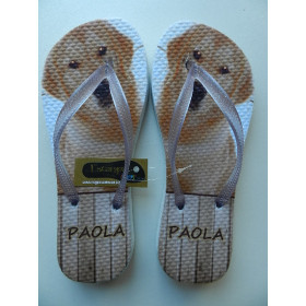 Chinelo Personalizado PET´s Golden Retriever