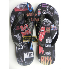Chinelo Personalizado Rock and Roll I