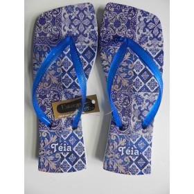 Rasteirinha Personalizada Porcelana Azul I