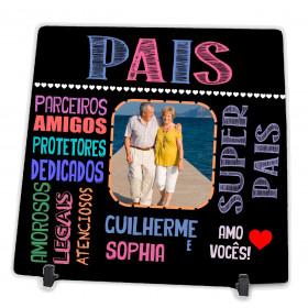 Azulejo Personalizado com Foto dos Pais Presente para o Pai e Mãe