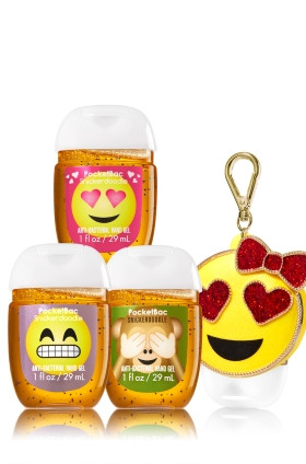 AntiBacterial PocketBac Gel Bath Body Works Emoji Love