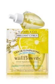 ESSÊNCIA Bath Body Works Wallflowers Bulb 2 Pack Refil Brilliant Citrus