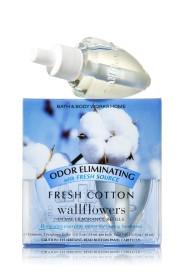 ESSÊNCIA Bath Body Works Wallflowers Bulb 2 Pack Refil Fresh Cotton
