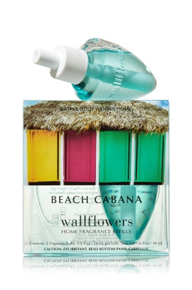 ESSÊNCIA Bath Body Works Wallflowers Bulb 2 Pack Refil Beach Cabana