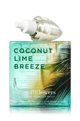 ESSÊNCIA Bath Body Works Wallflowers Refil Bulb 2 Pack Coconut Lime Breeze