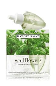 ESSÊNCIA Bath Body Works Wallflowers Bulb 2 Pack Refil Eucalyptus Mint
