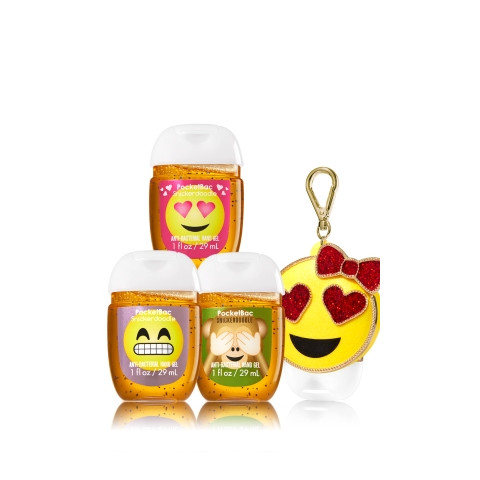 AntiBacterial PocketBac Gel Bath Body Works Emoji Monkey