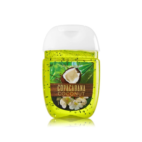 AntiBacterial PocketBac Gel Bath Body Works Copacabana Coconut