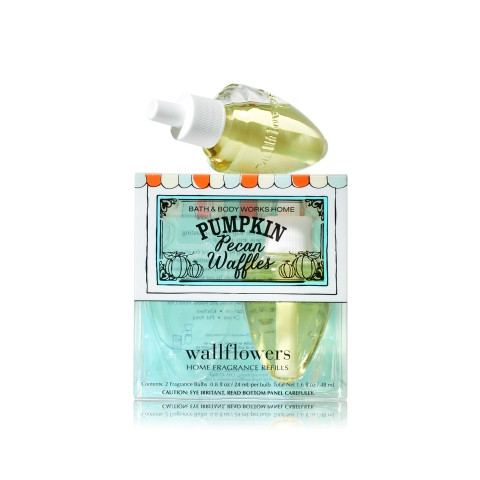 ESSÊNCIA Bath Body Works Wallflowers Bulb 2 Pack Refil Pumpkin Pecan Waffles
