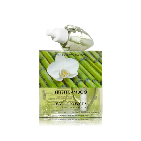 ESSÊNCIA Bath Body Works Wallflowers Bulb 2 Pack Refil Fresh Bamboo