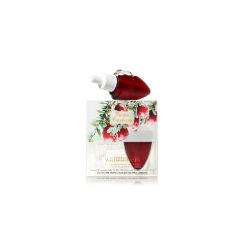 ESSÊNCIA Bath Body Works Wallflowers Bulb 2 Pack Refil Frosted Cranberry