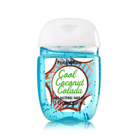 Anti-Bacterial Pocketbac Sanitizing Hand Gel Bath & Body Works Cool Coconut Colada