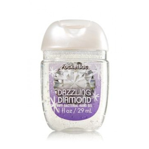 Anti-Bacterial Pocketbac Sanitizing Hand Gel Bath & Body Works Dazzling Diamond