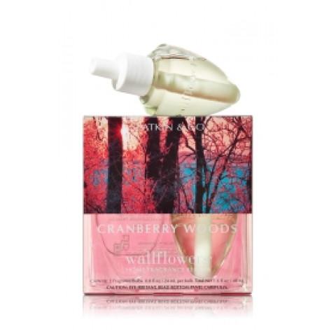 ESSÊNCIA Bath Body Works Wallflowers Bulb 2 Pack Refil Cranberry Woods