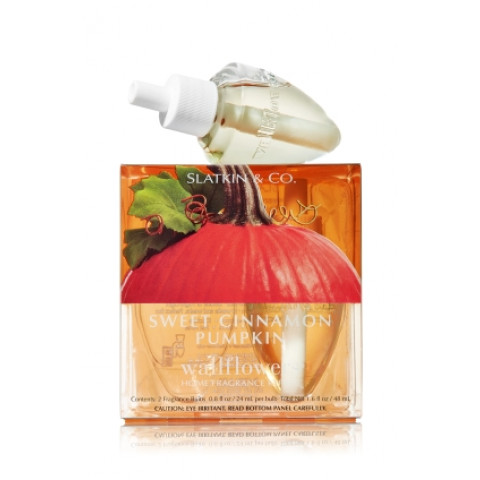 ESSÊNCIA Bath Body Works Wallflowers Bulb 2 Pack Refil Sweet Cinnamon Pumpkin