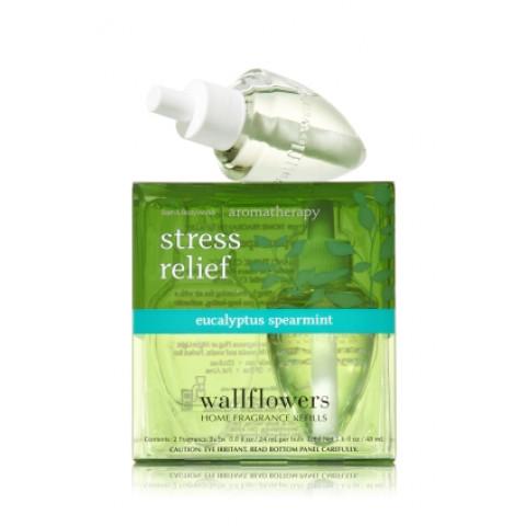 ESSÊNCIA Bath Body Works Wallflowers Bulb 2 Pack Refil Eucalyptus Spearmint