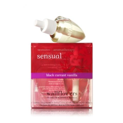 ESSÊNCIA Bath Body Works Wallflowers Bulb 2 Pack Refil Sensual Black Currant Vanilla