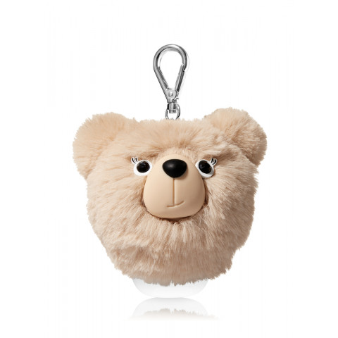 Suporte Álcool Gel Bath Body Works Pocketbac Brown Pom Bear