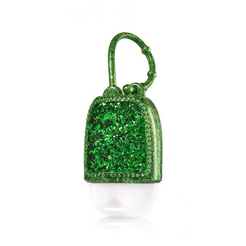 Suporte para Álcool Gel Bath & Body Works Accessories Pocketbac Holder Emerald Green Glitter