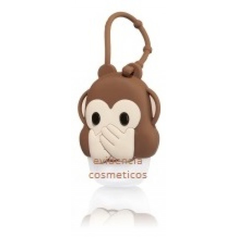 Suporte para Álcool Gel Bath & Body Works Accessories Pocketbac Holder Monkey Emoji Boca