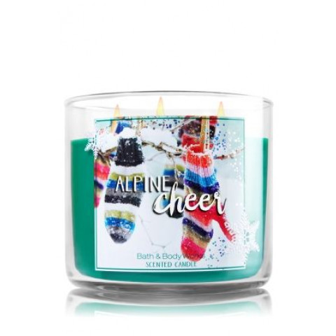 Vela White Barn 3-Wick 400g Candle Bath & Body Works Alpine Cheer