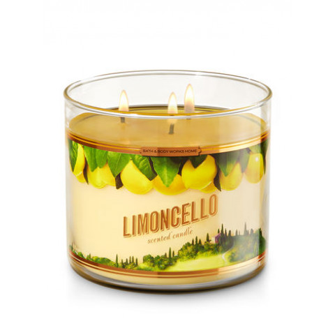 Vela White Barn 3-Wick 400g Candle Bath & Body Works Limoncello