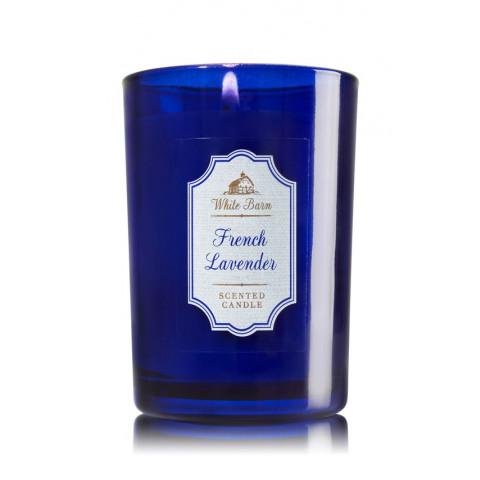 Vela White Barn Medium Candle Bath & Body Works French Lavender