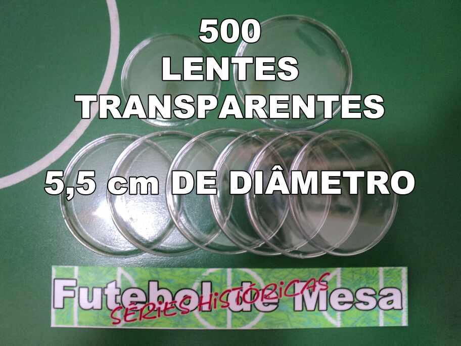 500 Lentes Transparentes (5,5 cm de diâmetro)