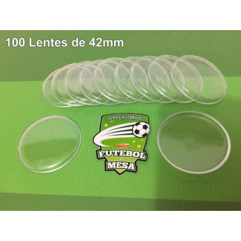 100 Lentes Transparentes (42 mm de diâmetro)